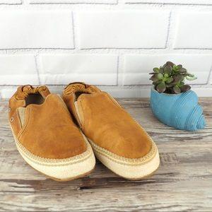 Donald J. Pliner sz 11 chestnut suede loafer shoe